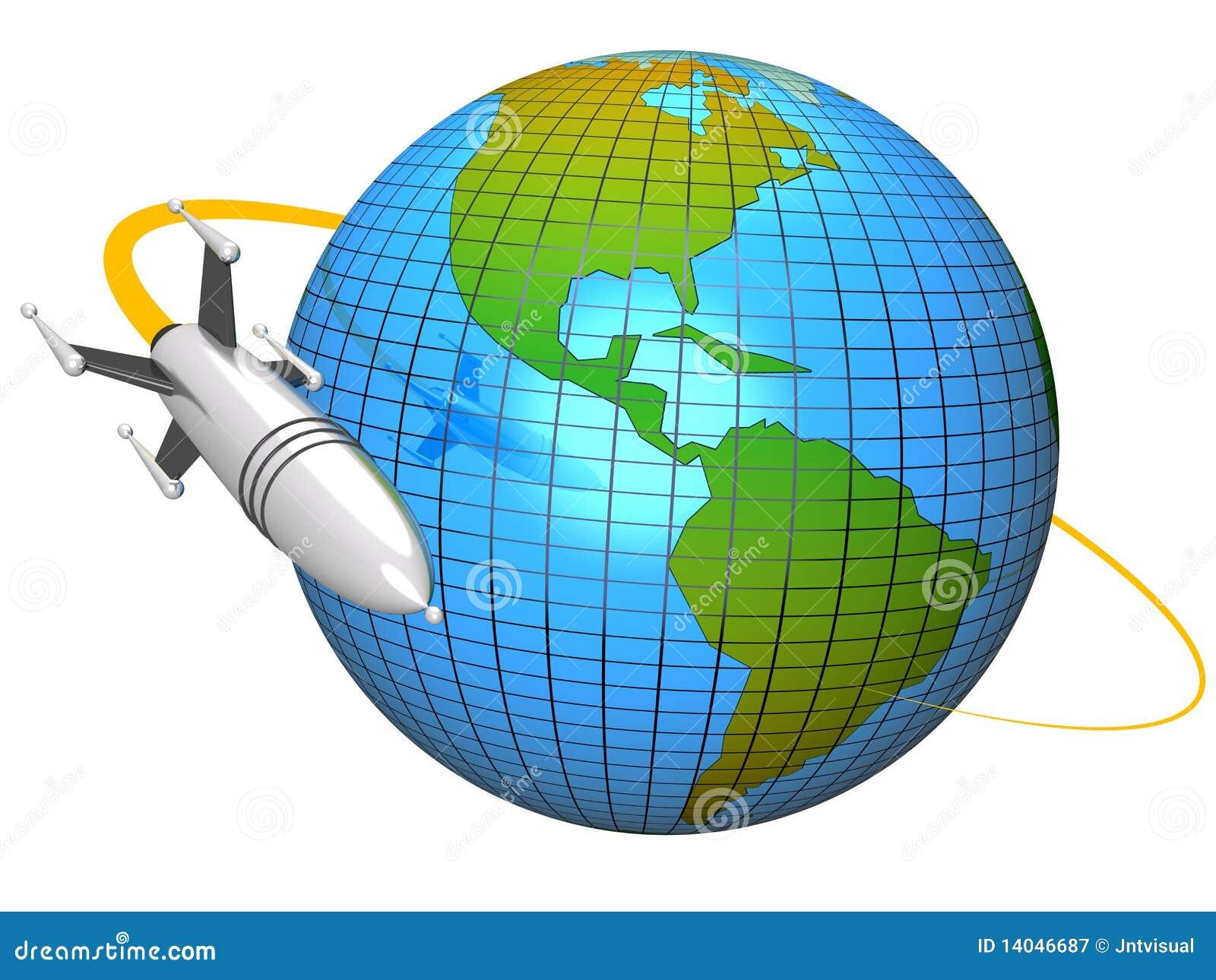 Rocket en orbite