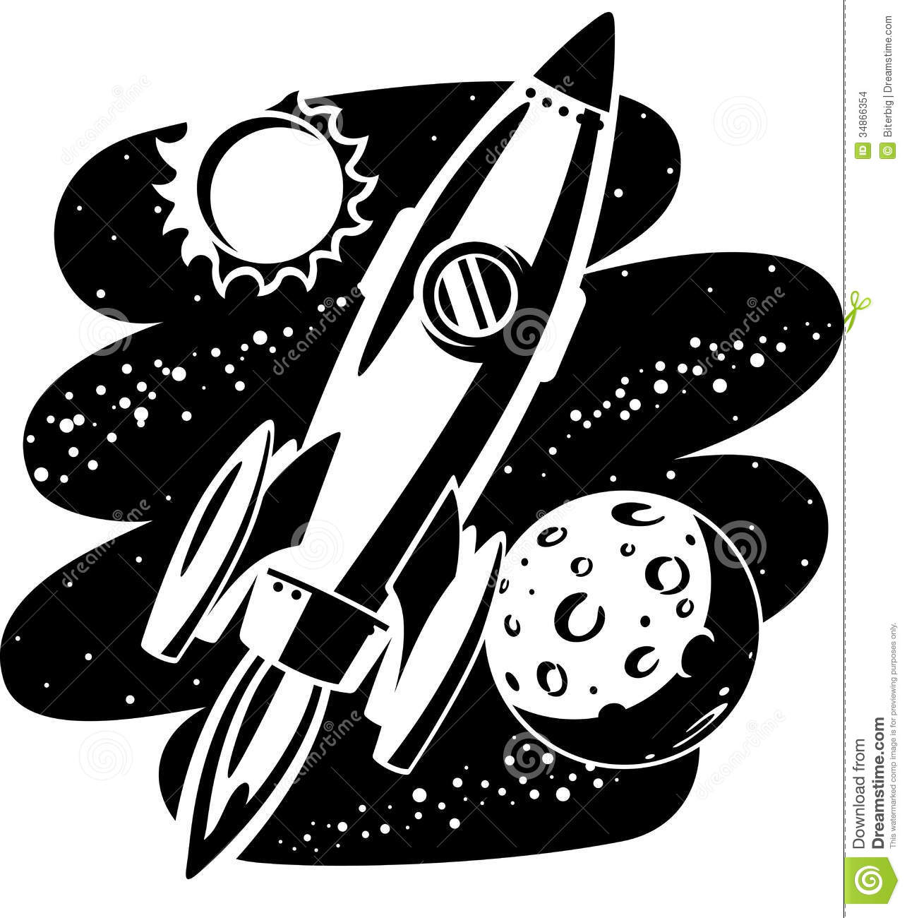 Rocket flying through outer space stock images image for Outer space graphics