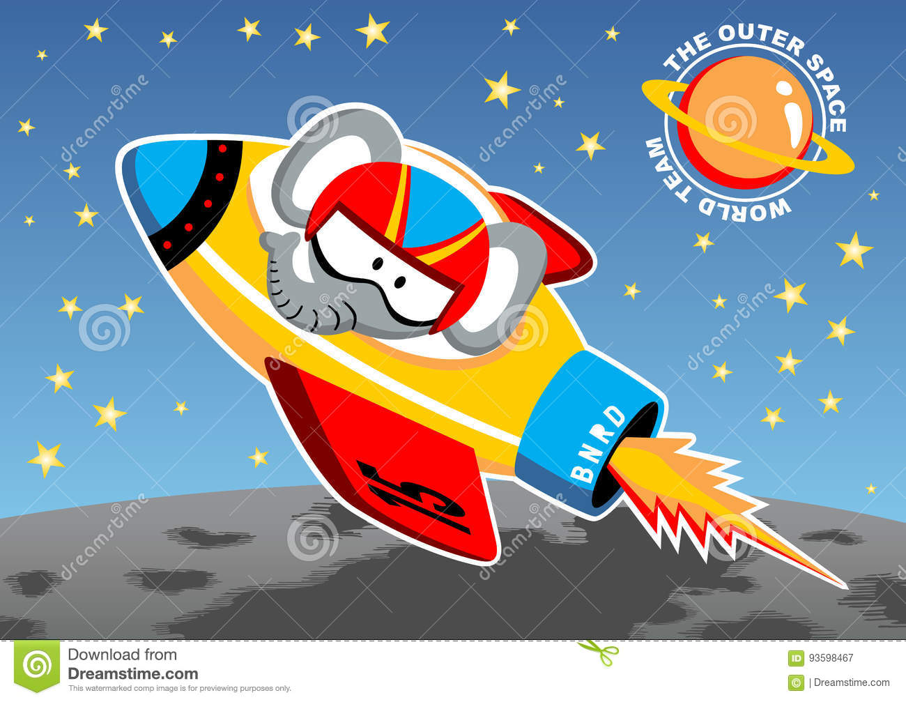 Rocket go to outer space