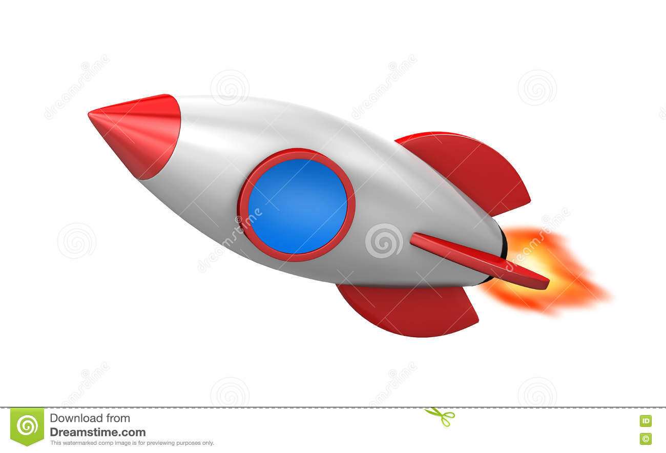 Rocket stock illustration  Illustration of fire, drawing - 75997596