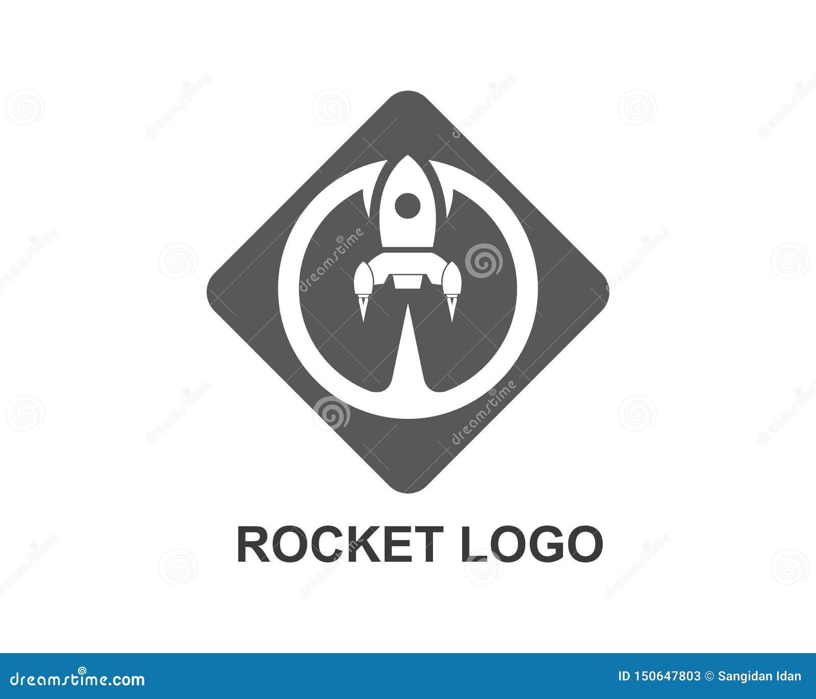 Rocket ilustration logo vector icon