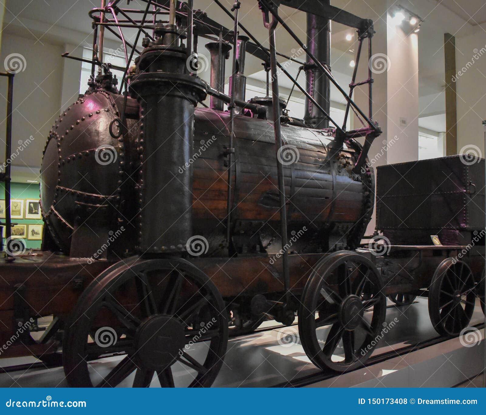 Rocket Locomotive de Stephenson, 1829 en el museo de ciencia