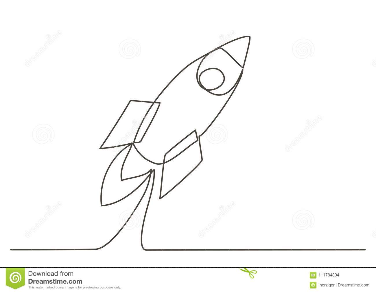 Rocket One linje teckning