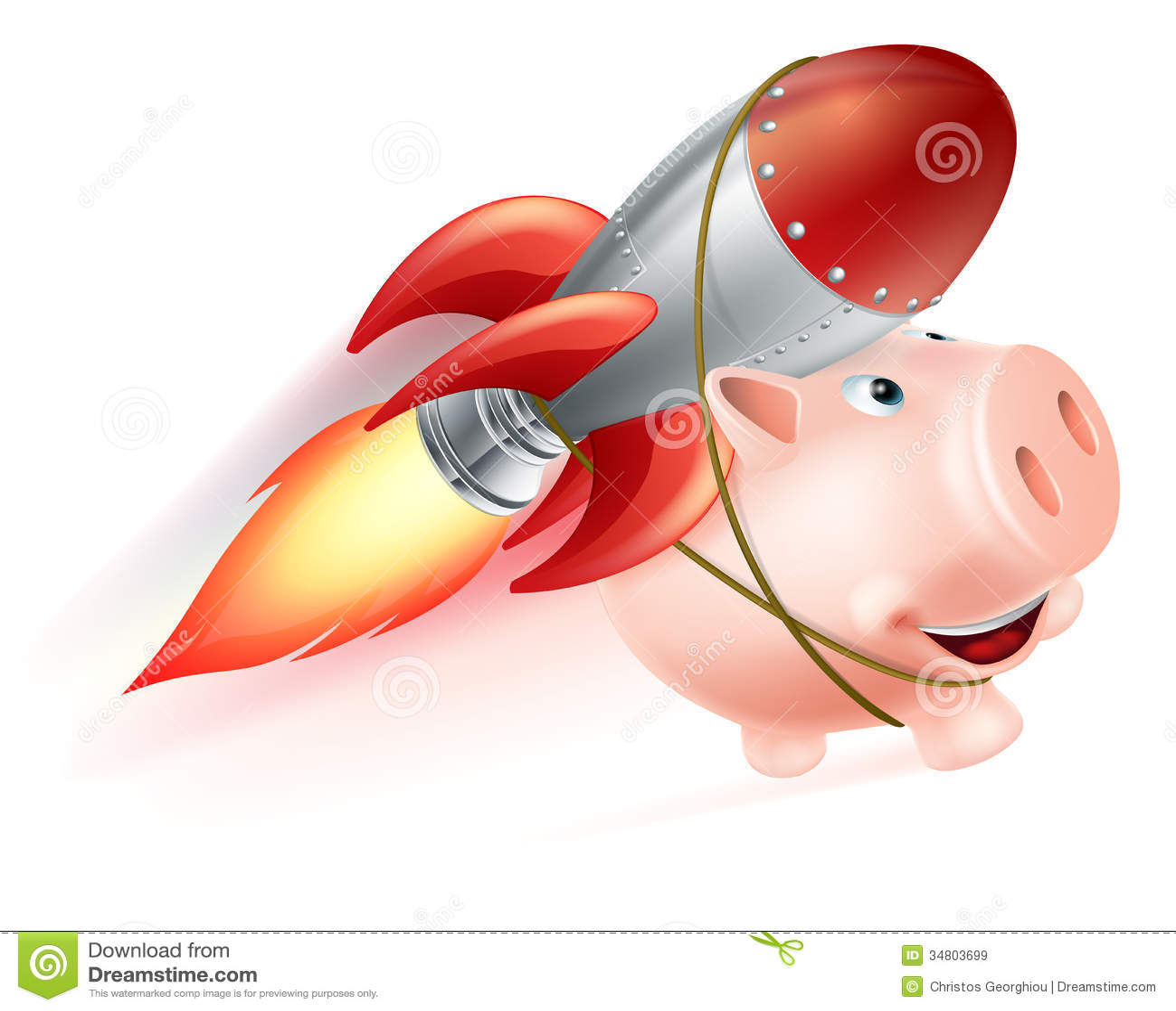 Rocket Piggy Bank Royalty Free Stock Images Image 34803699