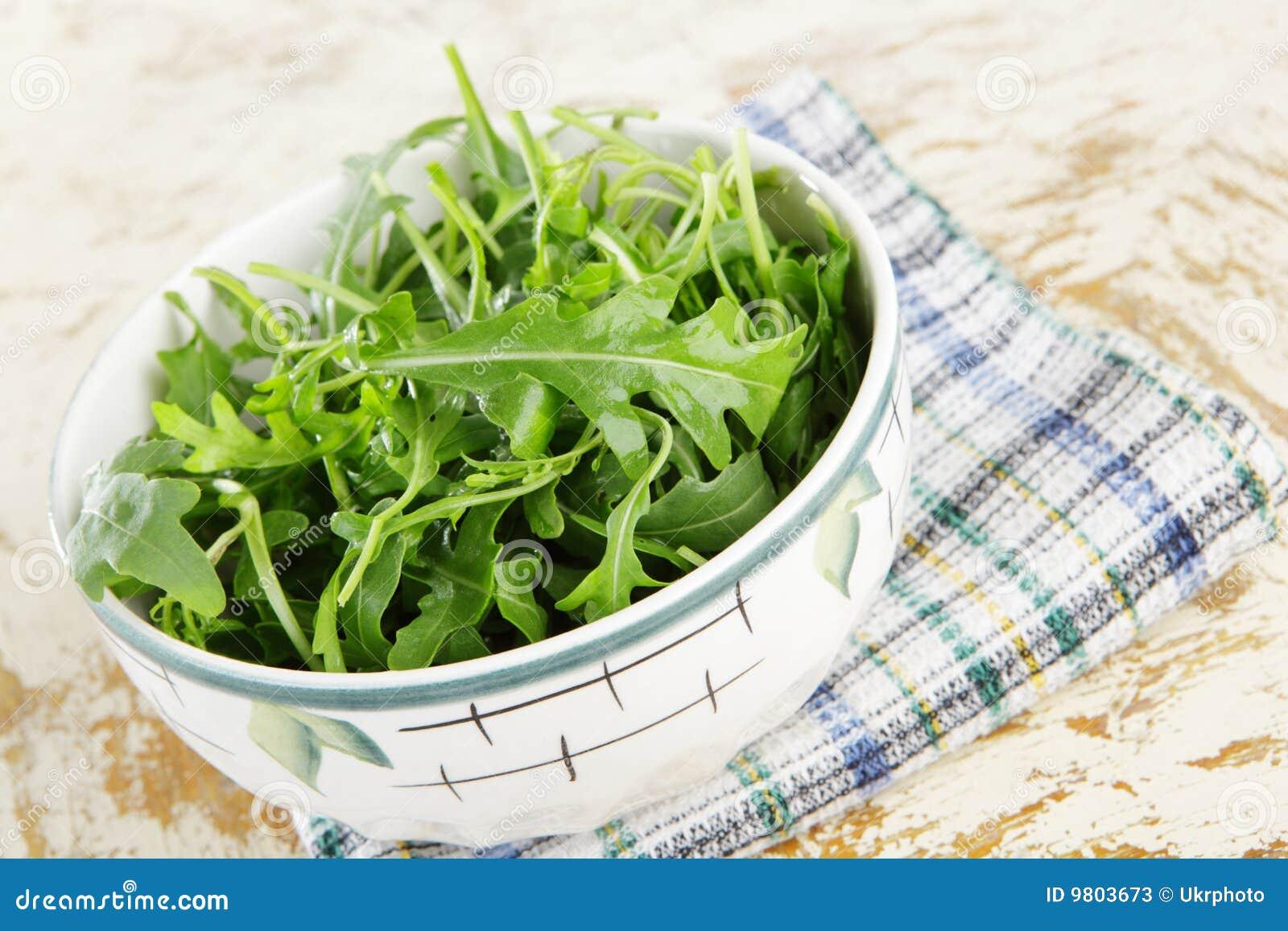 Bowl Fresh Rocket Rustic Salad