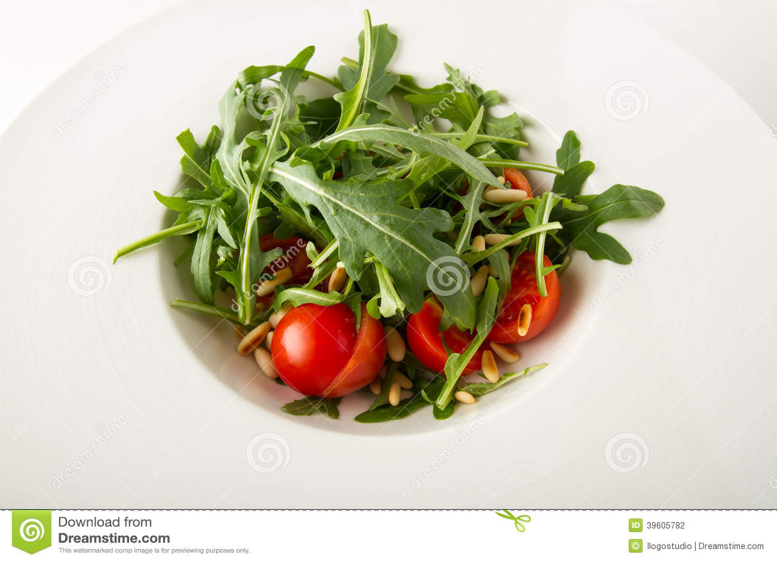 Cherry Pine Plate Rocket Salad