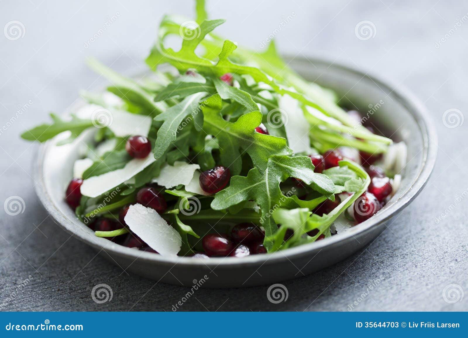 Cheese Parmasan Pomegranate Rocket Salad