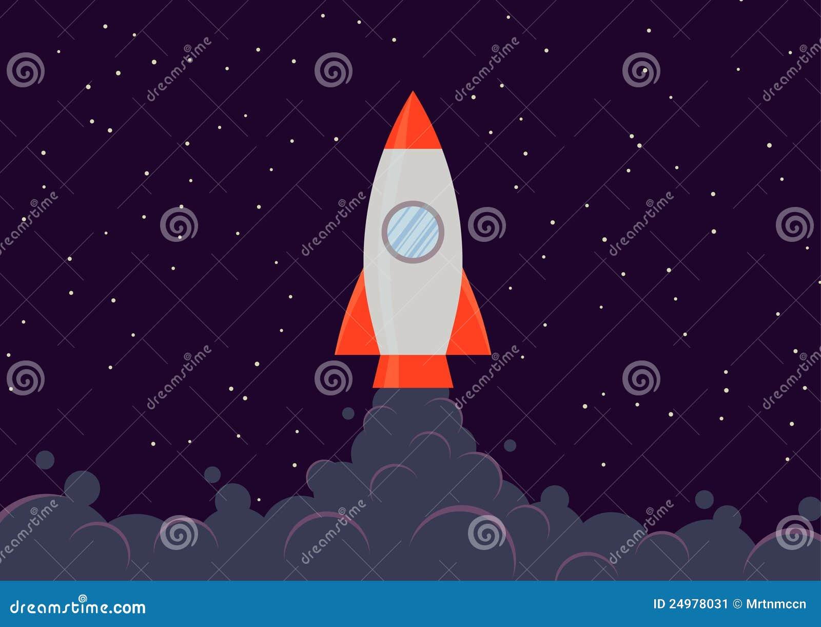 Rocket Ship Stock Image - Image: 24978031