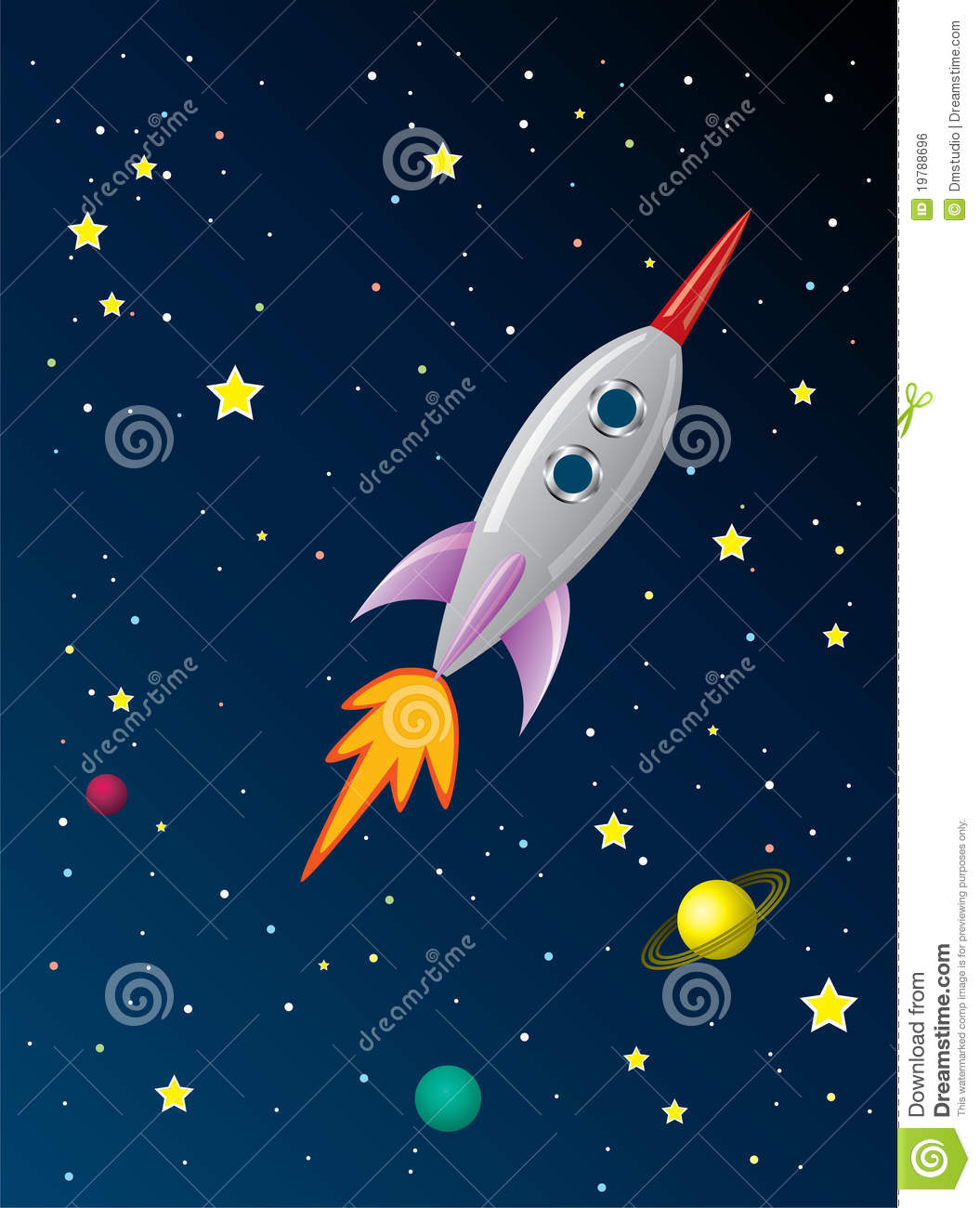 Rocket Ship In Space Royalty Free Stock Image Image