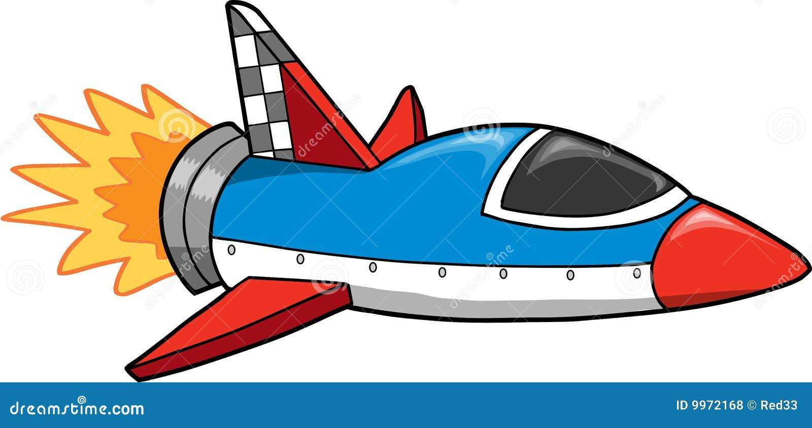 Rocket Ship Vector Illustration Stock Vector ...
