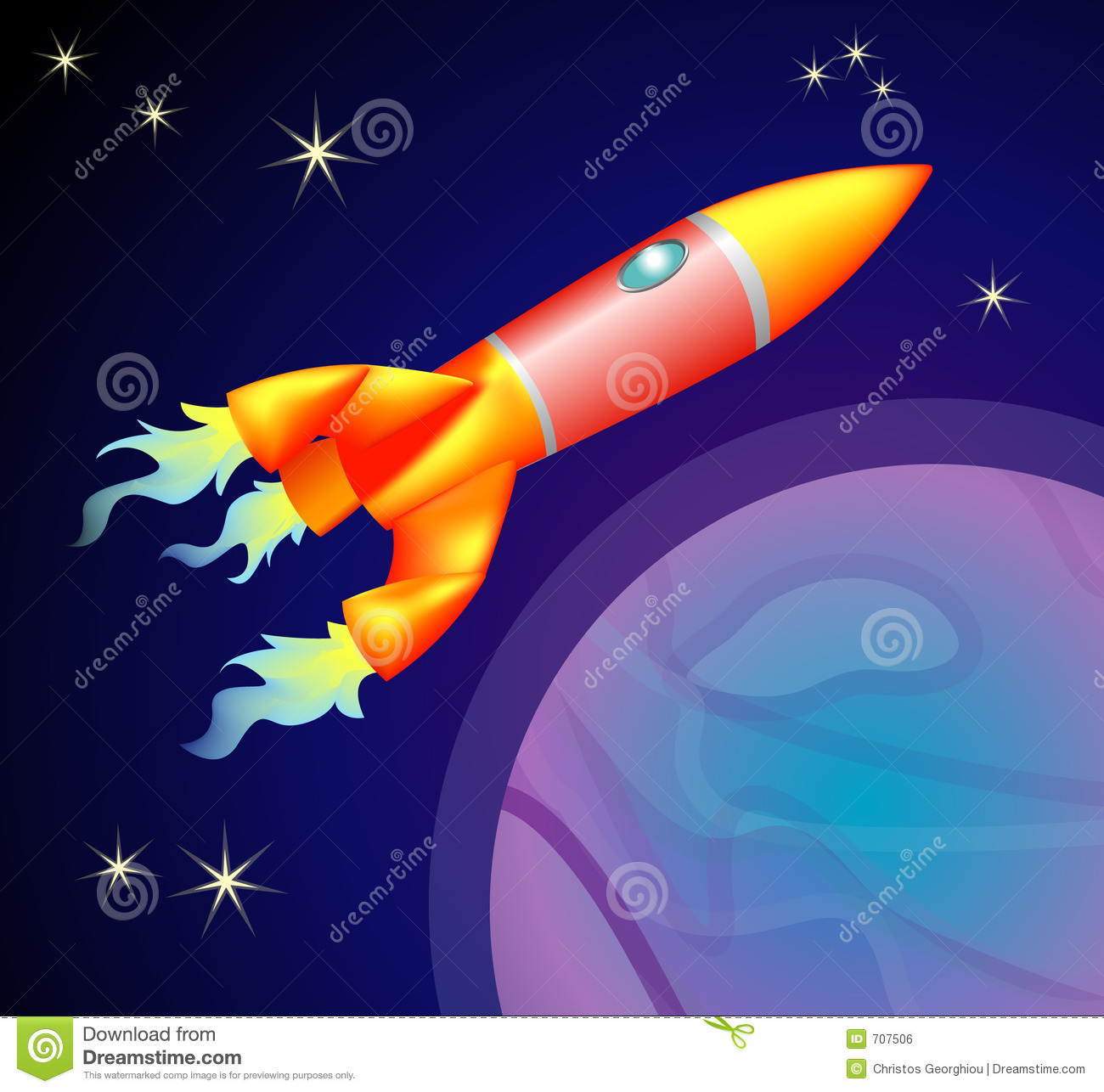 Rocket Space Ship Royalty Free Stock Image - Image: 707506