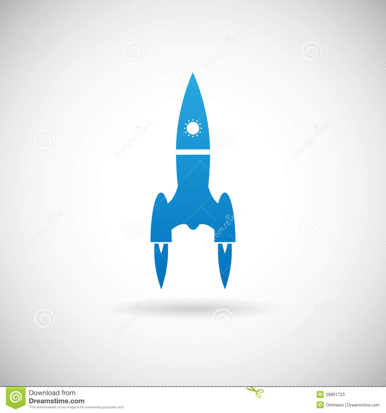 Rocket Space Ship Launch Symbol Icon Design Template On ...