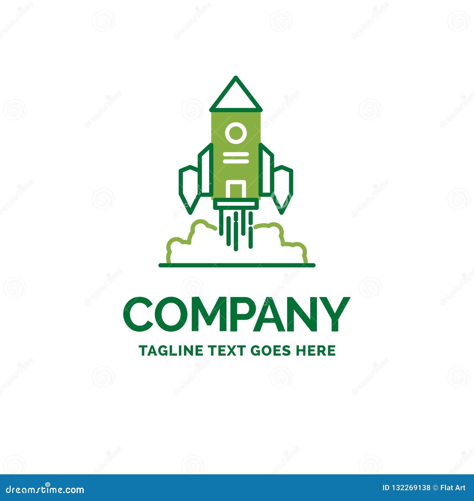 Rocket, Spaceship, Startup, Launch, Game Flat Business Logo