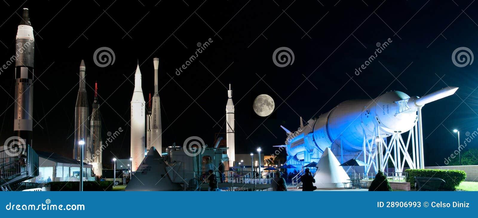 Rockets no Centro Espacial Kennedy da NASA