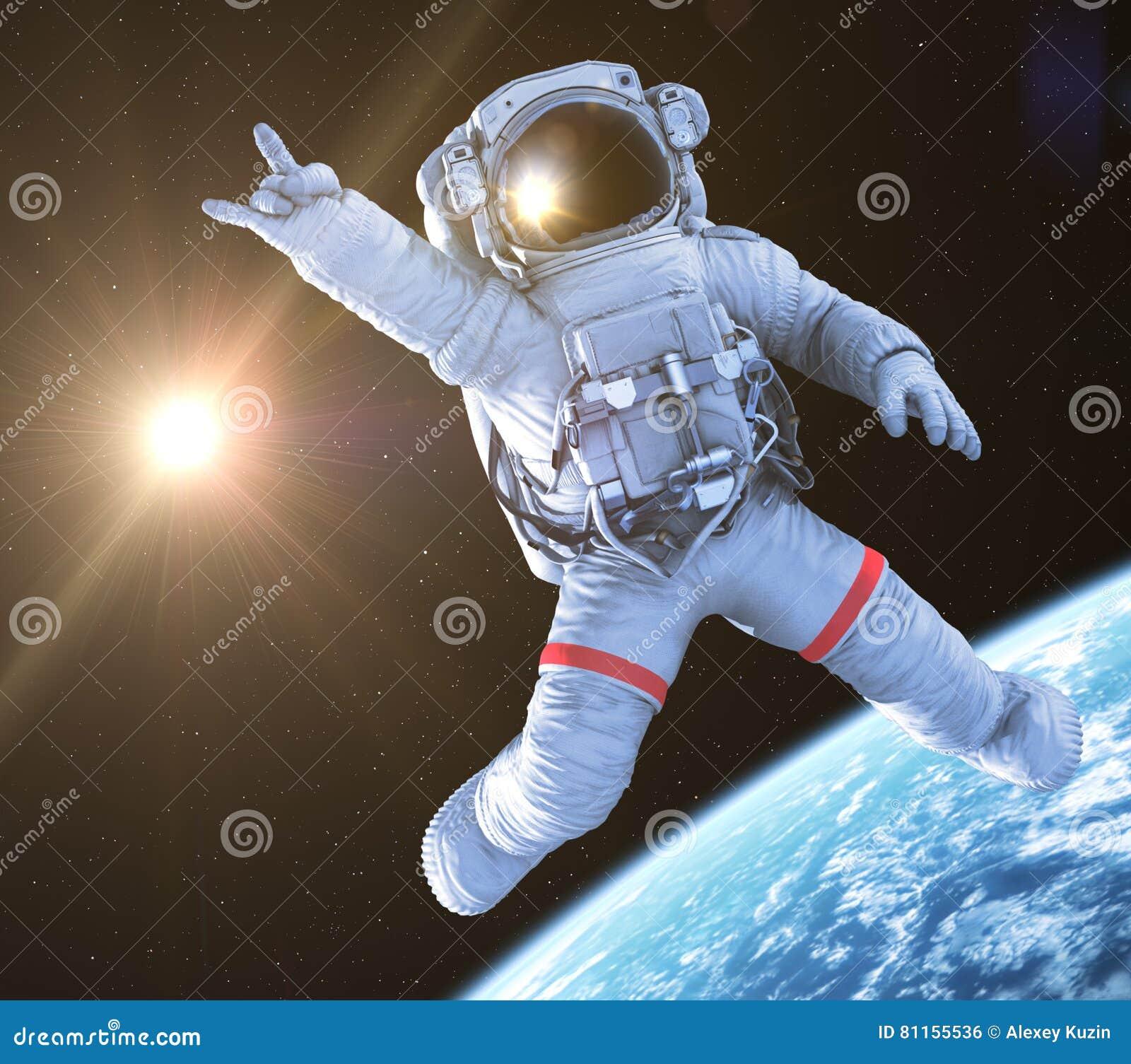 Rocking Astronaut, 3d Render Stock Illustration ...