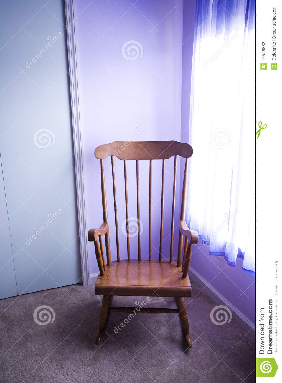 Rocking chair stock photography image 10549882 for Chair next to window