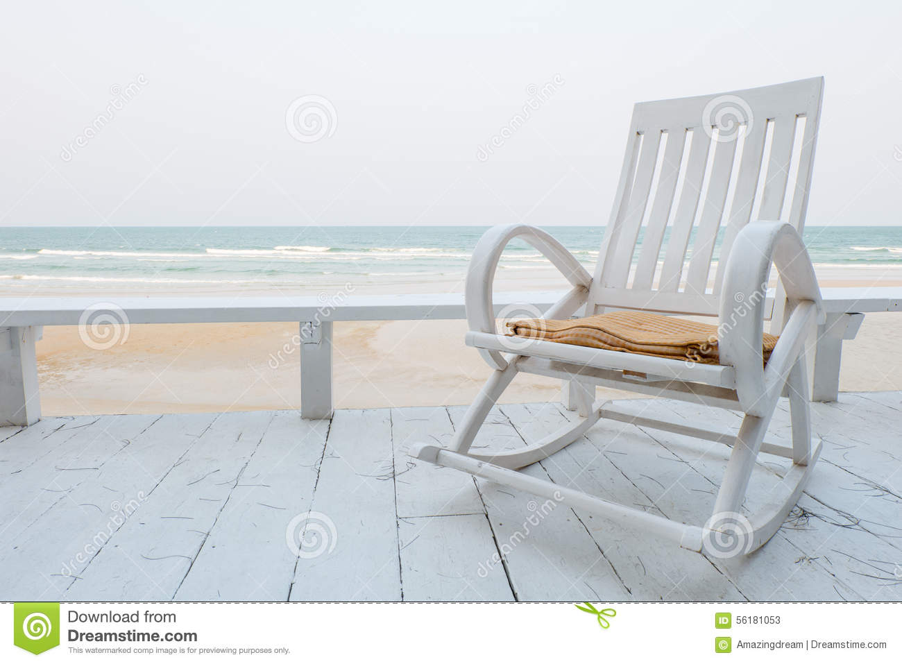 Rocking Chair On The Beach