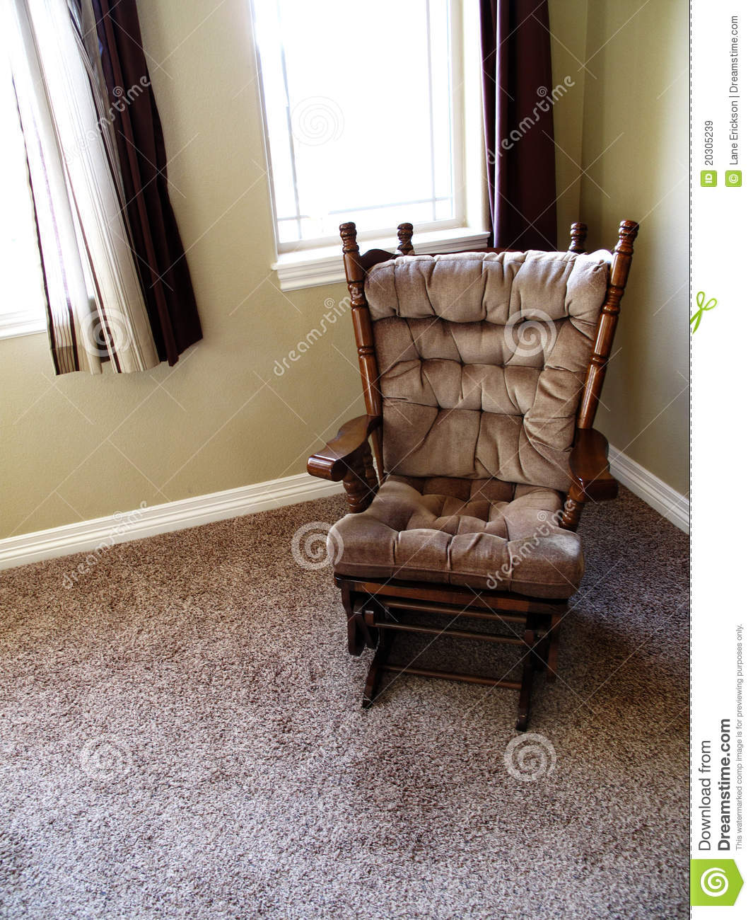 Rocking chair at home royalty free stock images image for Chair next to window