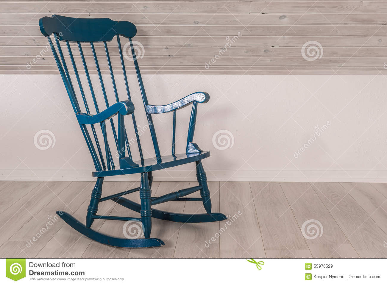 rocking chair in a living room stock photo image 55970529. Black Bedroom Furniture Sets. Home Design Ideas
