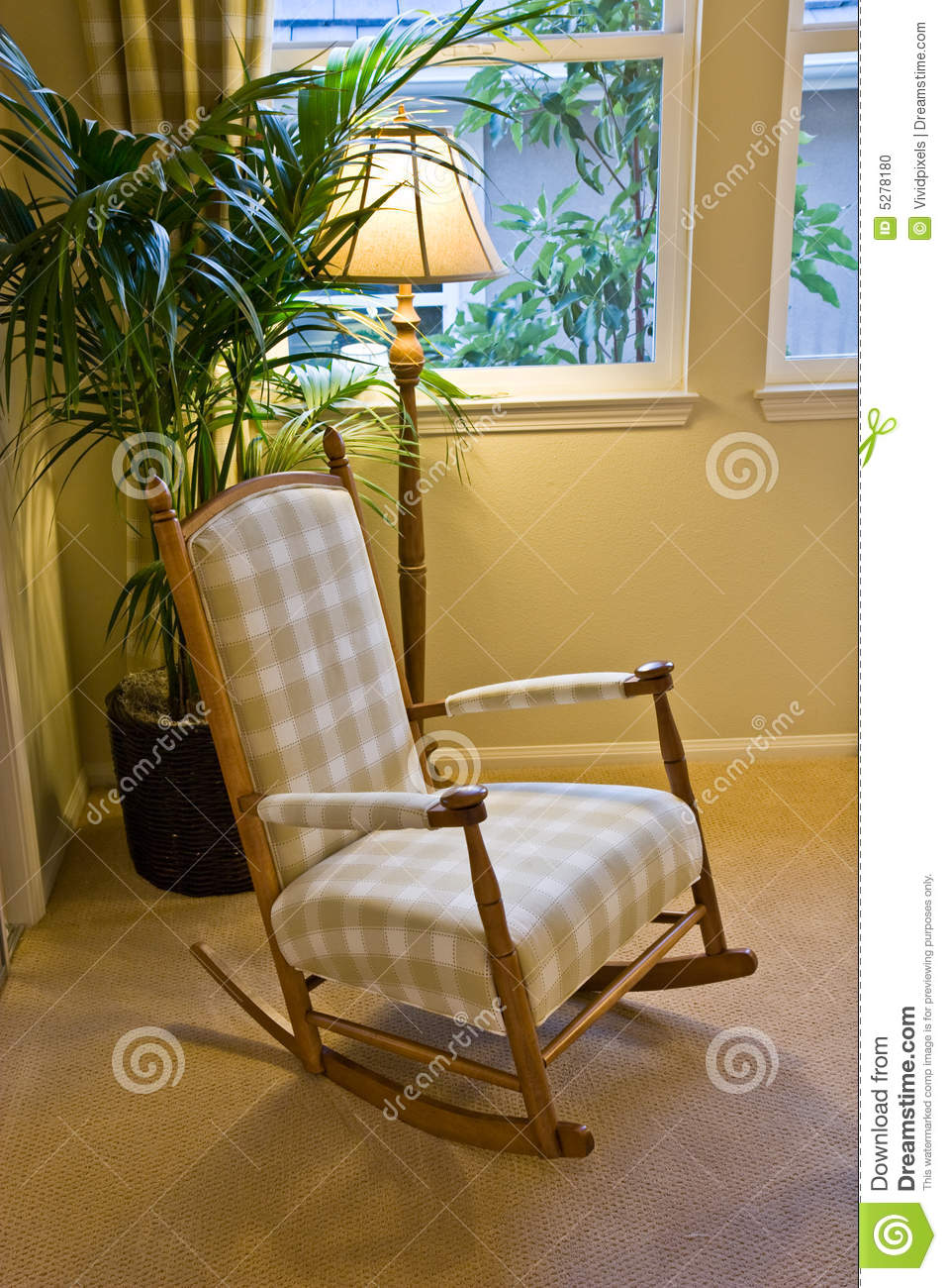 Rocking chair nexxt to window stock photo image 5278180 for Chair next to window