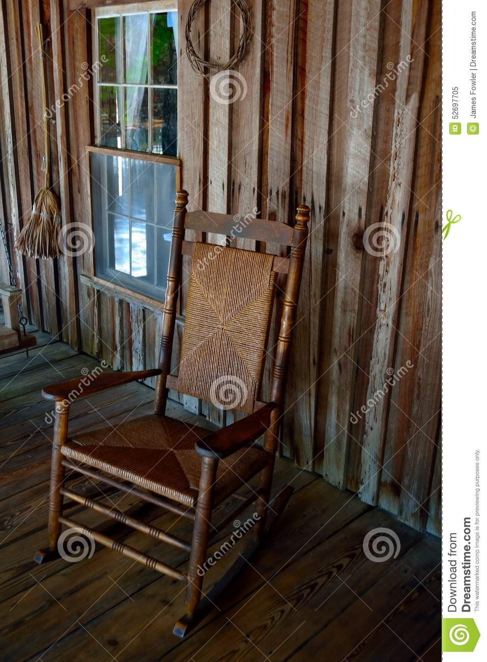 Surprising Rocking Chair On An Old Time Front Porch Stock Image Pabps2019 Chair Design Images Pabps2019Com