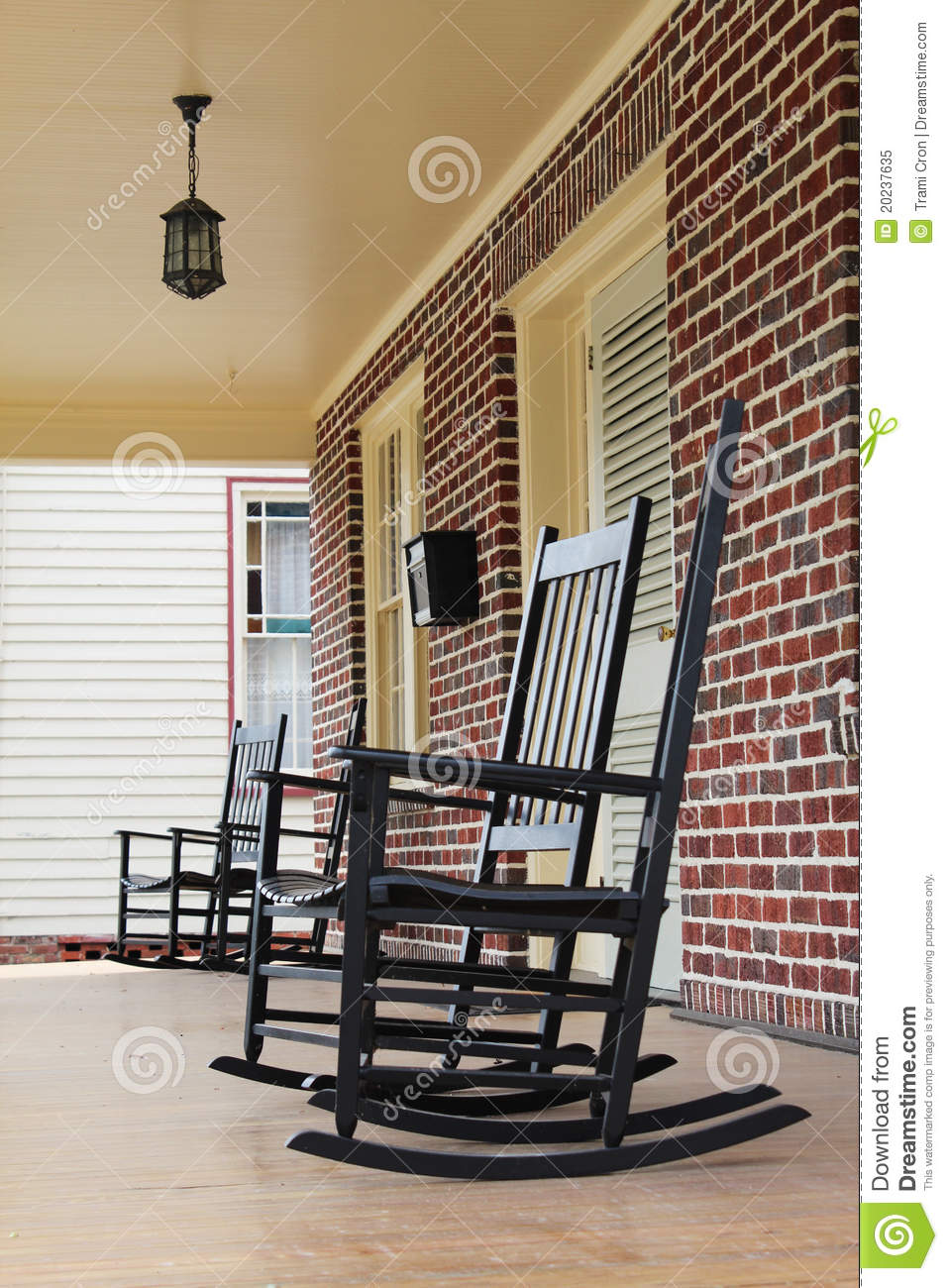 Nice Rocking Chairs On Front Porch In North Carolina