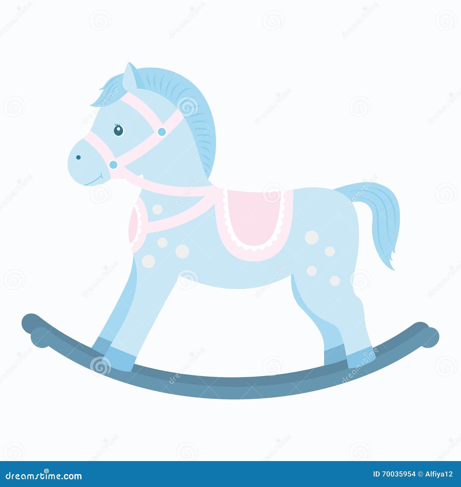 Rocking Horse Stock Vector Illustration Of Vector Decoration 70035954