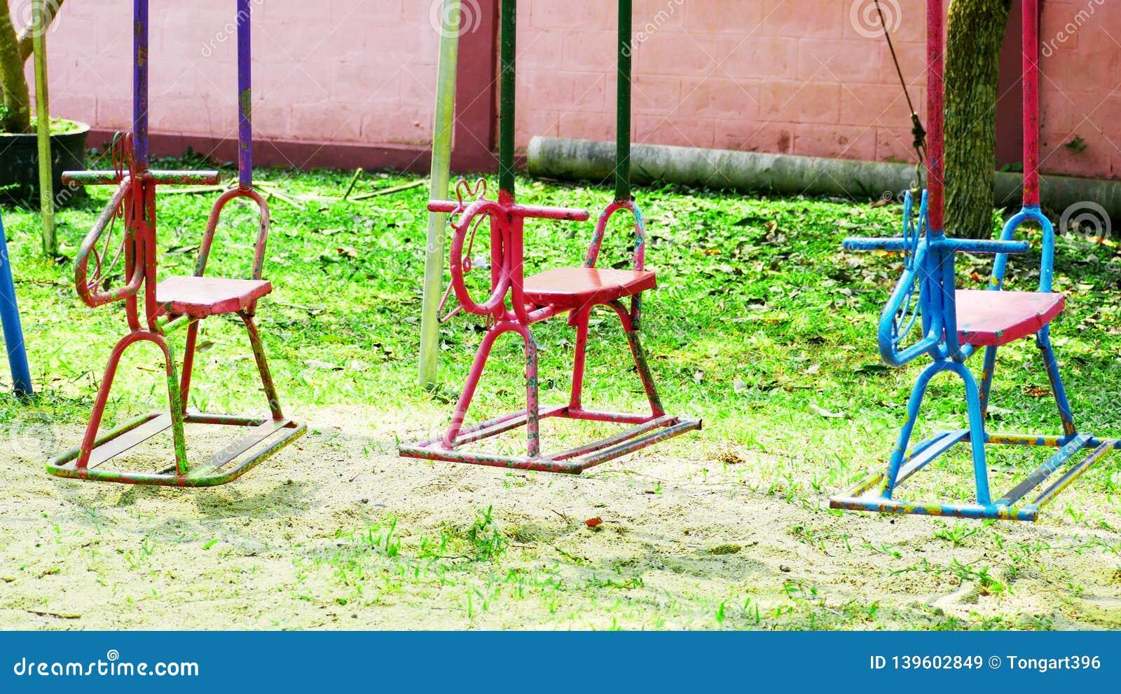 Rocking horse on the playground