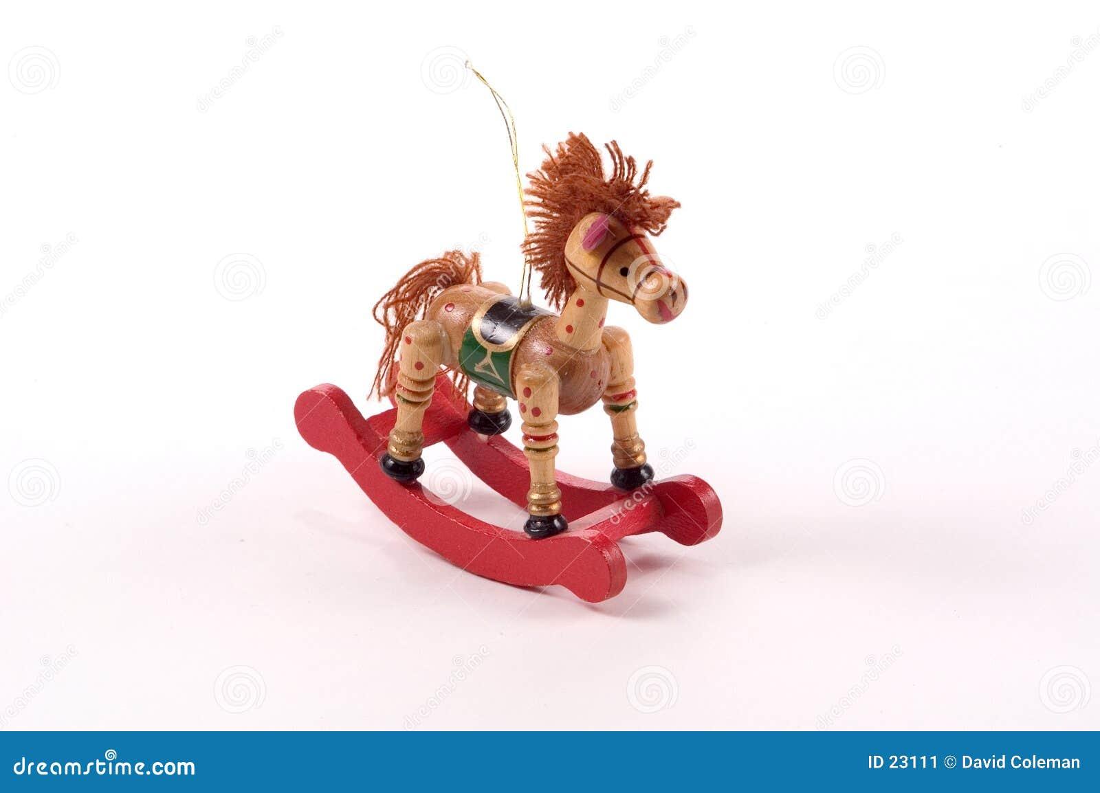 rocking horse tree ornament - Horse Christmas Ornaments