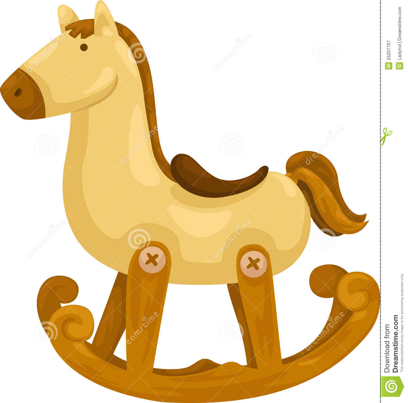 Rocking Horse Vector Stock Vector Illustration Of Picture