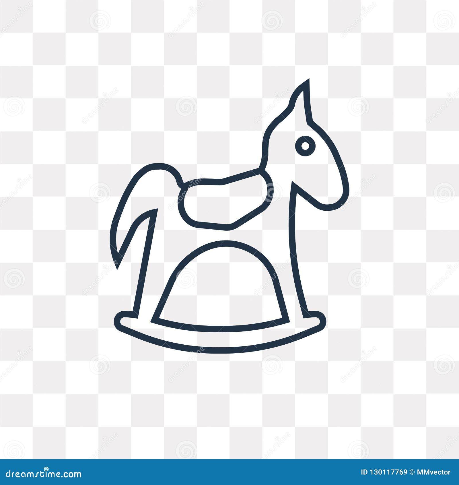 rocking horse outline