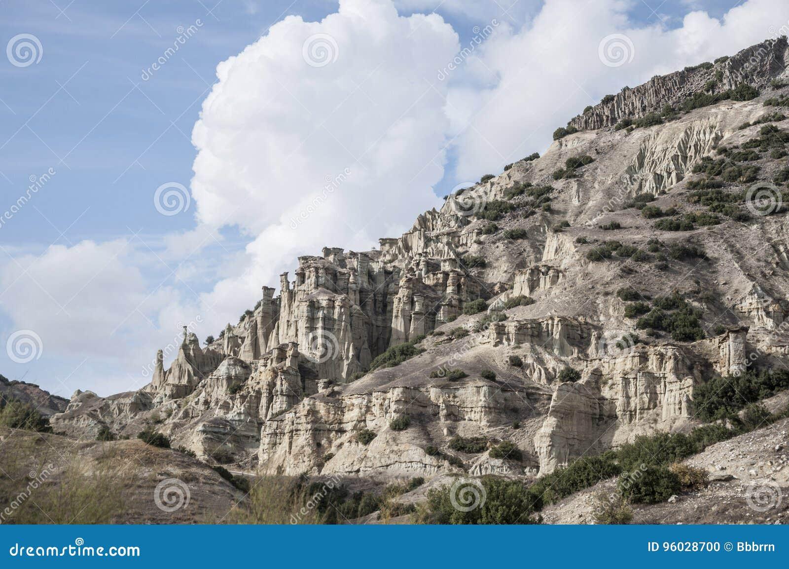 Rockowa formacja w Kuli miasteczku dokąd jest w zachodnim regionie Turcja