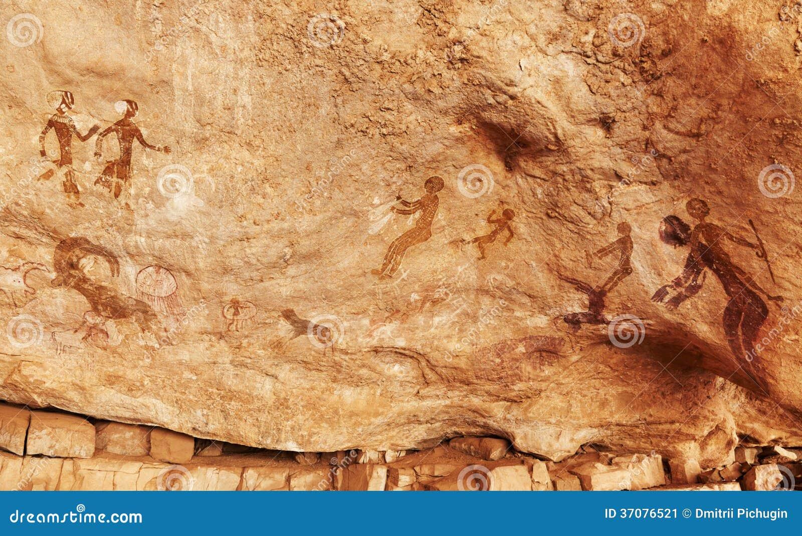 Download Rockowi Obrazy Tassili N'Ajjer, Algieria Obraz Stock - Obraz złożonej z inskrypcja, historia: 37076521