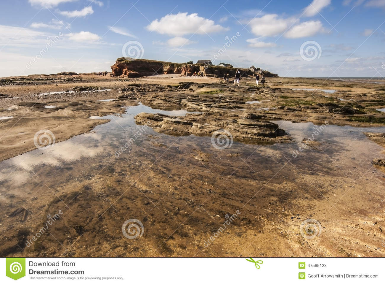 Rockpools all isola di Hilbre, Kirby ad ovest, Wirral, Englanc
