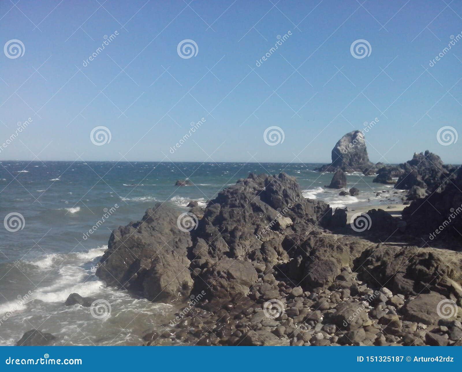 Rocks On The Beach Stock Image Image Of Landscape Beach