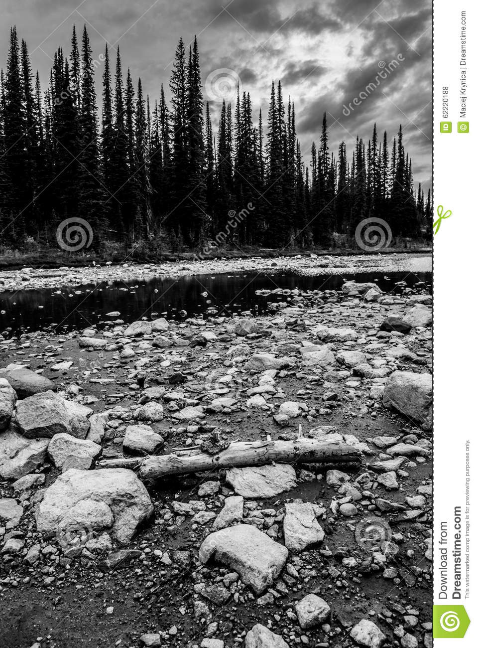 Rocks and forest in canada stock photo image 62220188 for Landscaping rocks canada