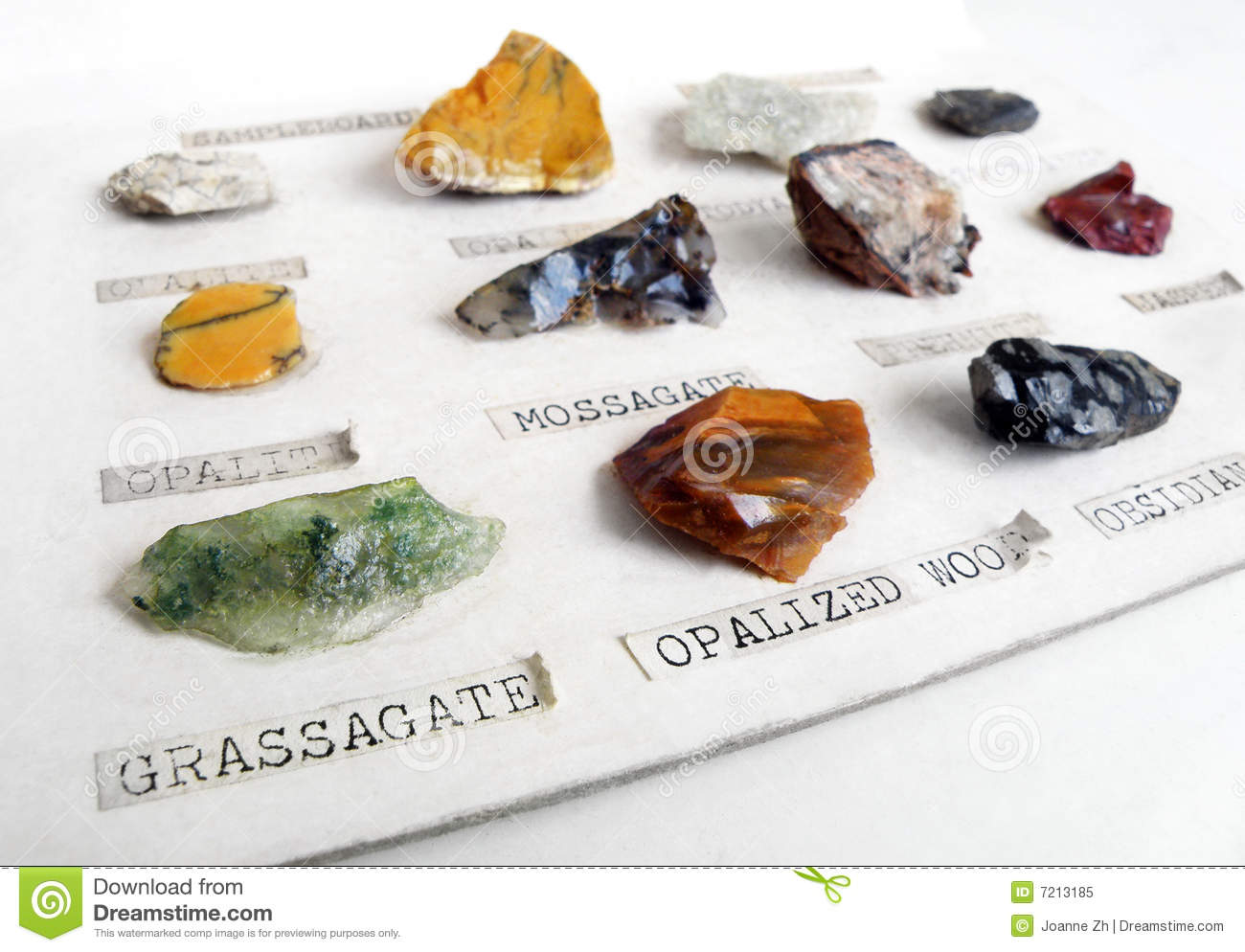 Rocks Minerals Collection Hobby Royalty Free Stock Photo