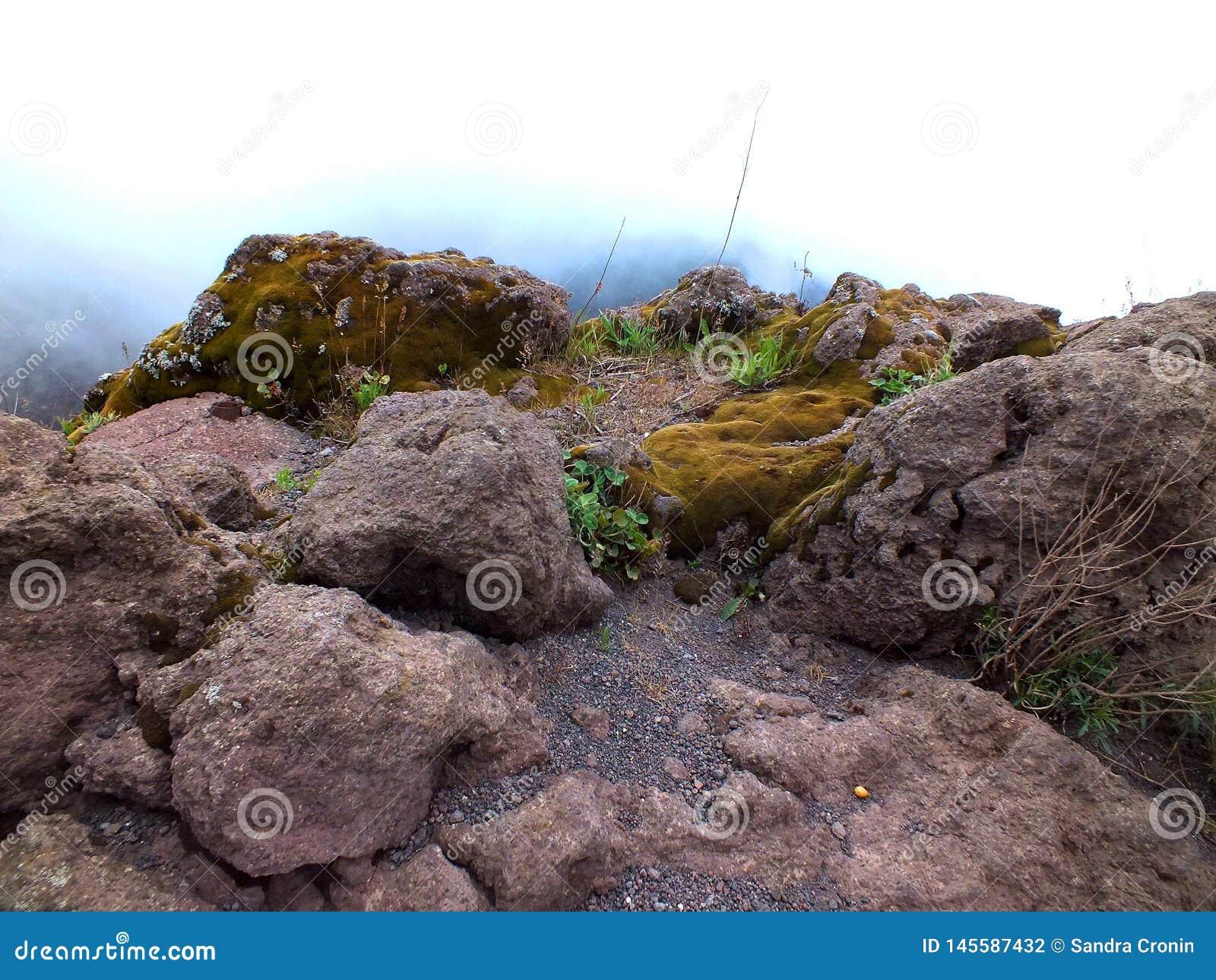 The rocks of Mount Vesuvius