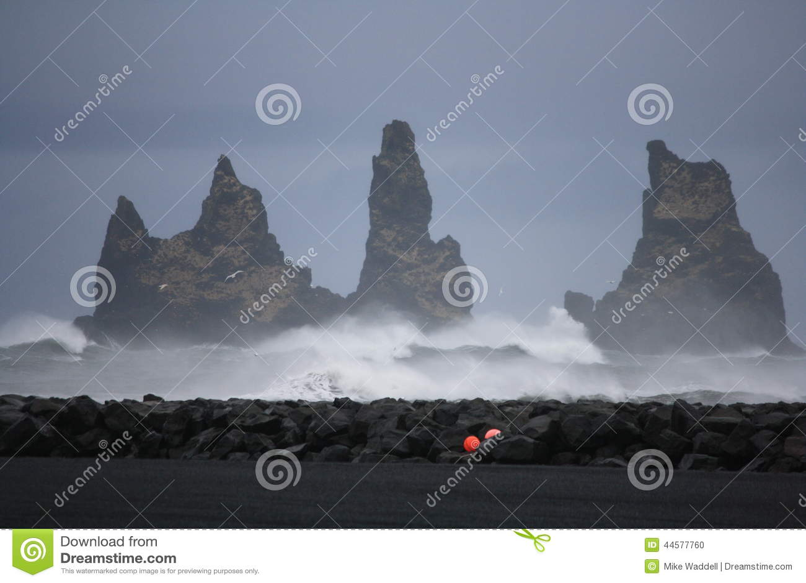 Rocks off Vik Iceland