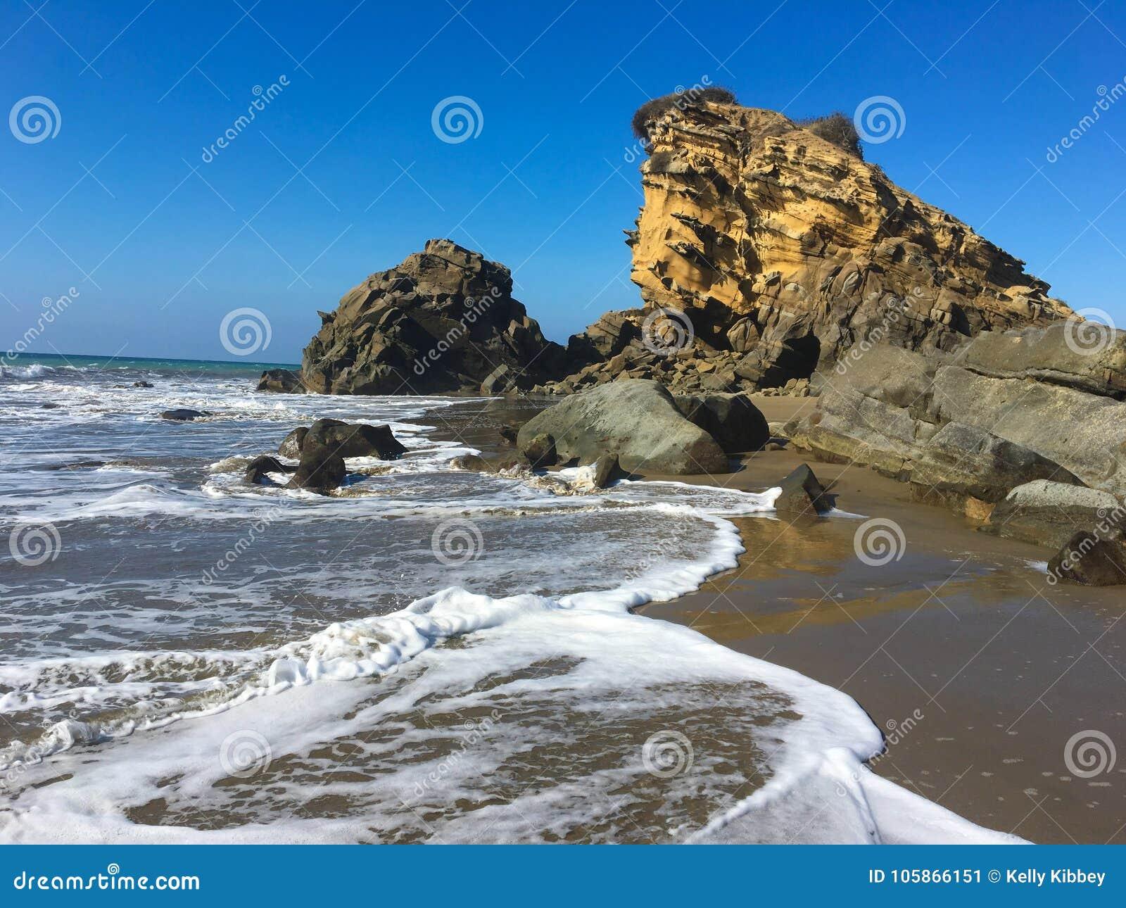 Rocks at Playa La Tinosa, Ecuador