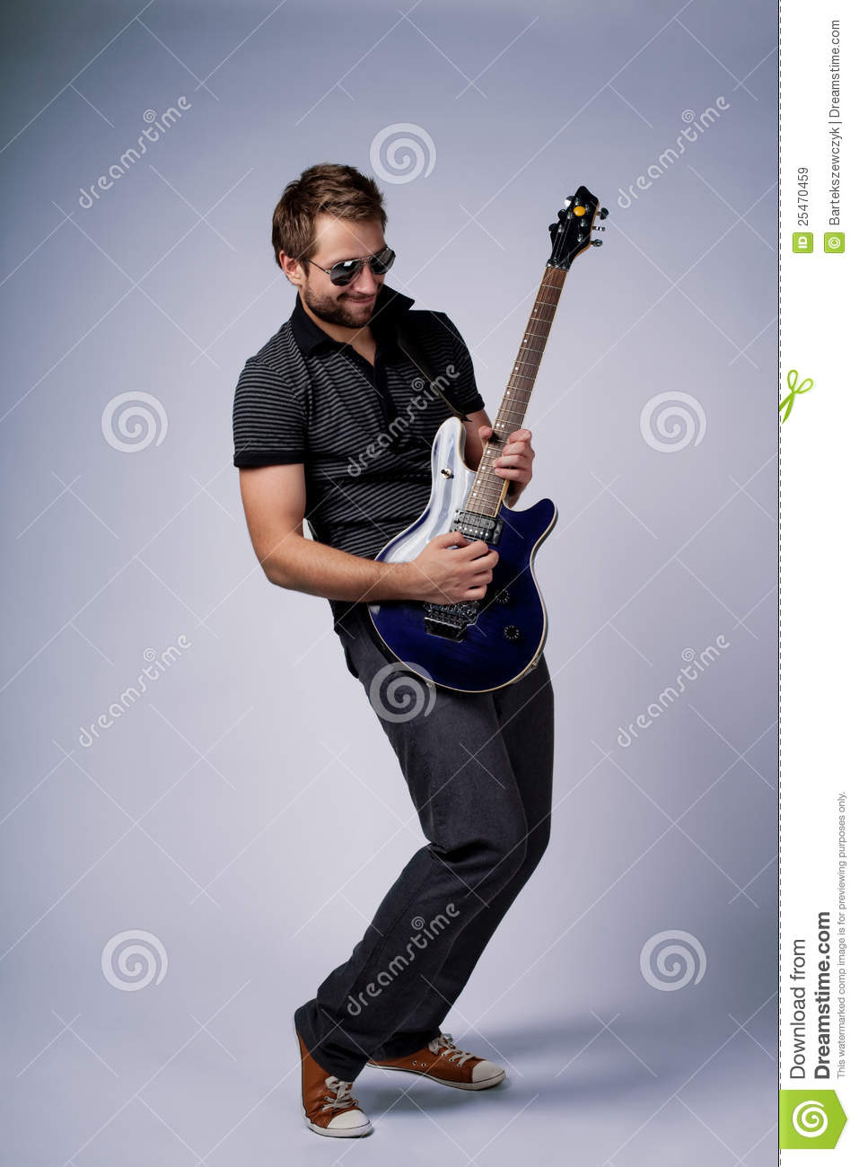 Rockstar Guitar Player Royalty Free Stock Images - Image: 25470459