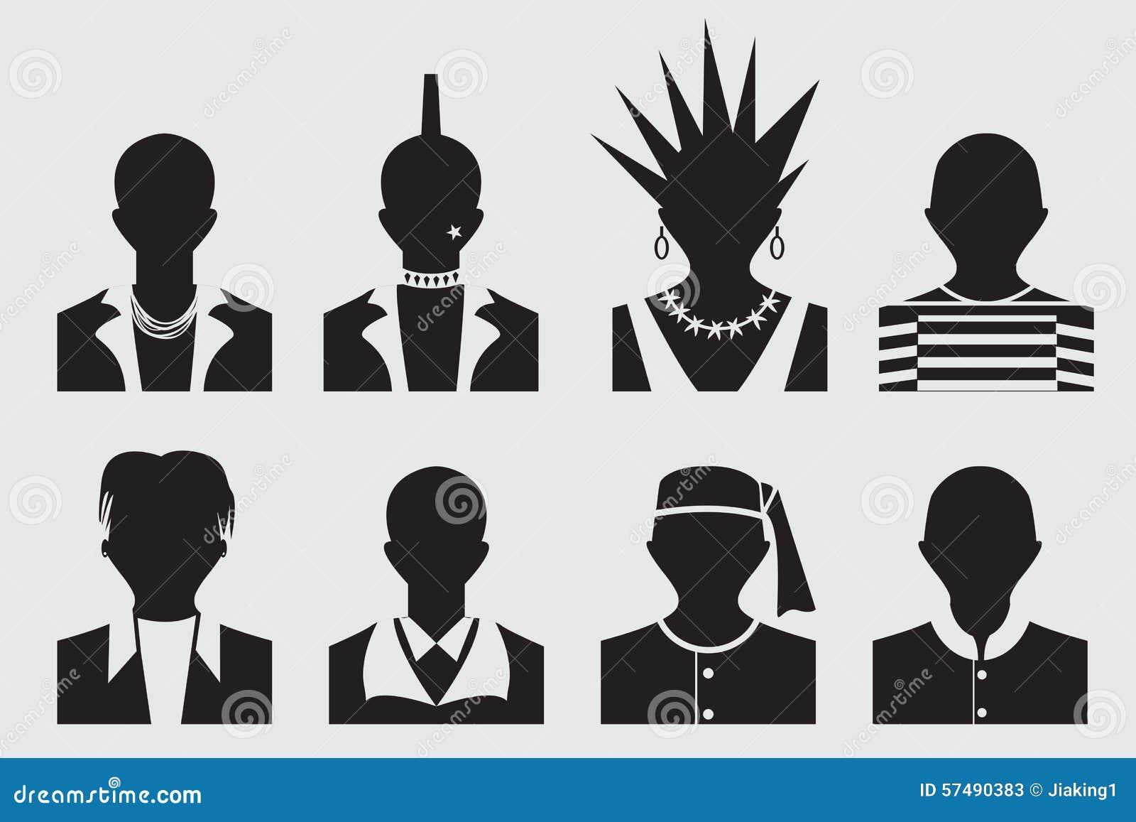 Rockstar Und Des Gefangenen Avatara Des Hippies Des Punks Des Emo