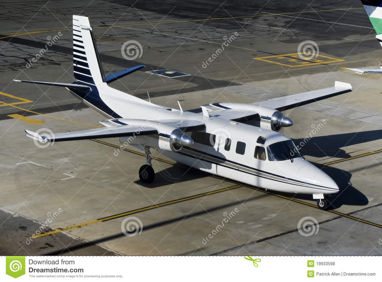 Rockwell 690a Commander Stock Photo Image Of Airplane