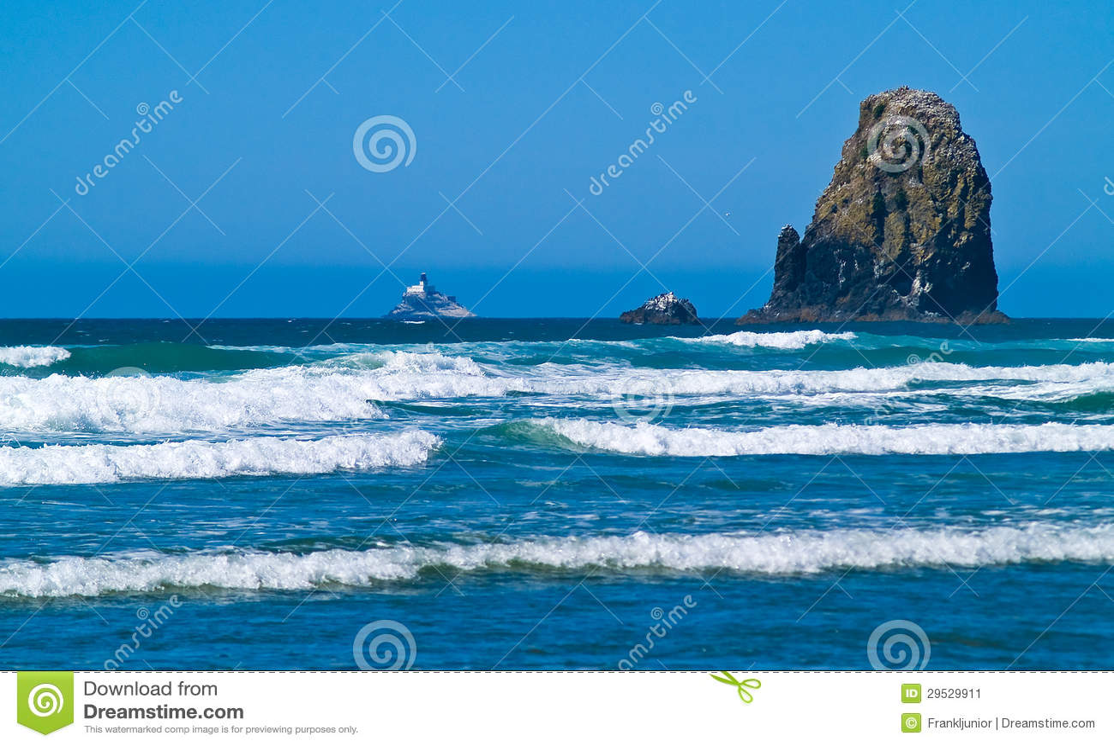 Rocky Arcadia Beach áspero