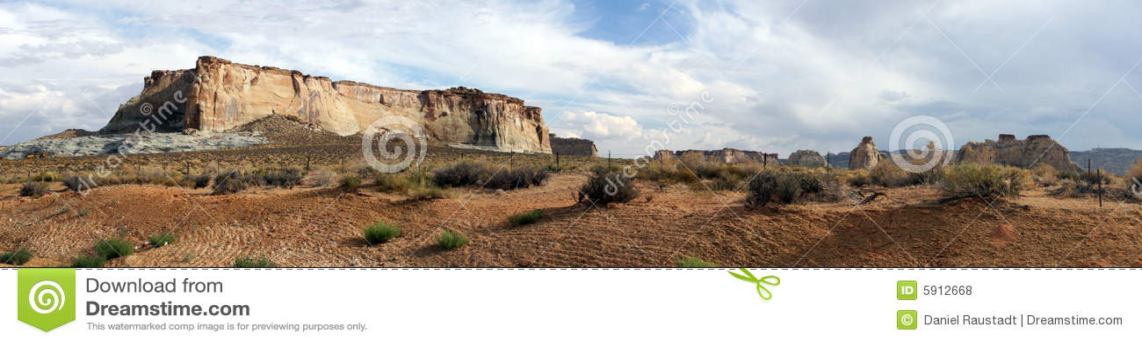 Rocky Arizona mountain plateau panorama