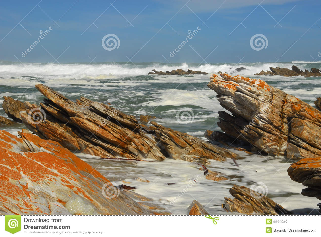 Rocky beach of Cape Agulhas