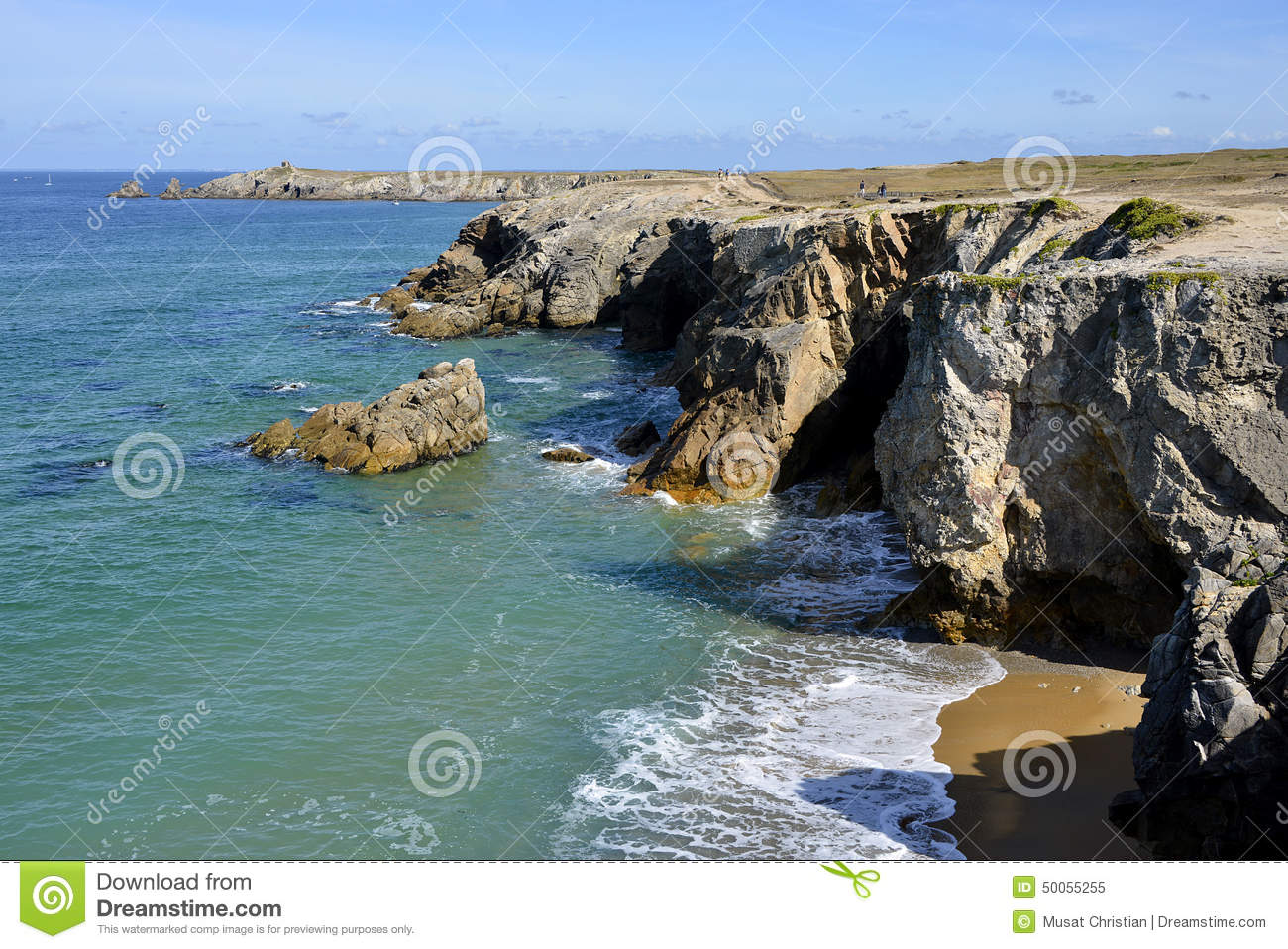 Quiberon France  City new picture : Rocky Coast At Quiberon Peninsula In France Stock Photo Image ...