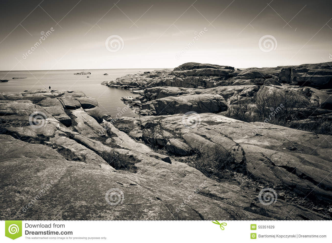 Rocky coast at Verdens End, Norway