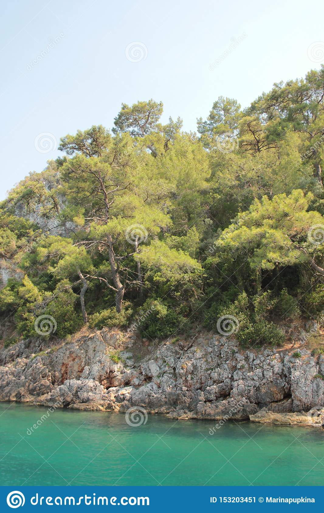 Blue lagoon in the Aegean Sea.