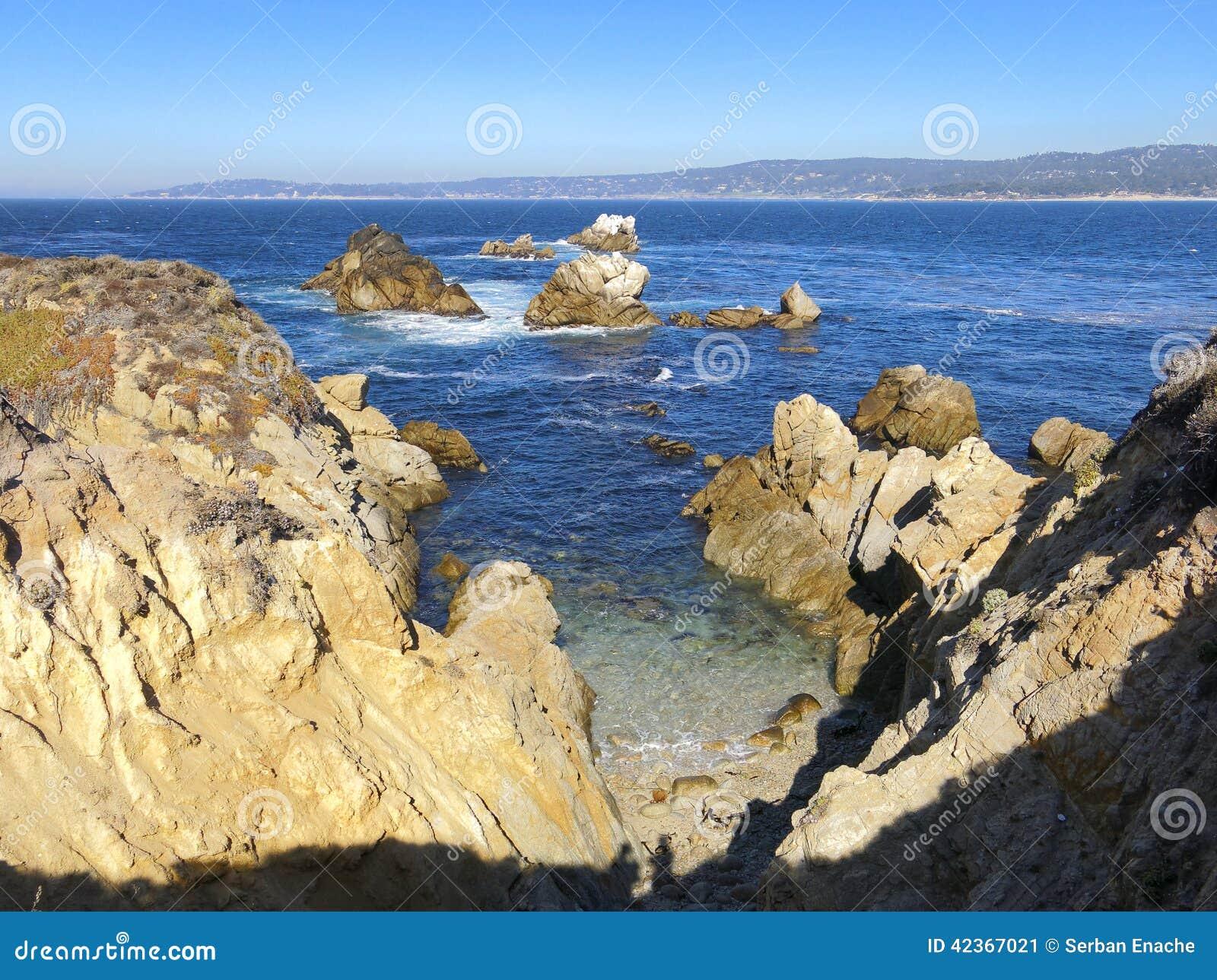 Rocky Coastline Point Lobos California Stock Photo Image